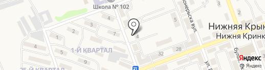 Детский сад №87 на карте Нижней Крынки