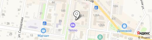 Кадриль на карте Абинска