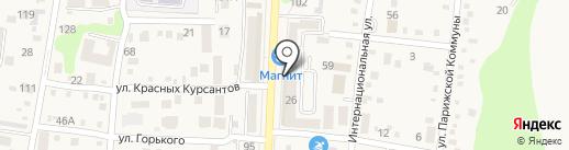 Магнит Косметик на карте Абинска