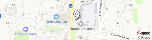 Магазин канцелярских товаров на карте Абинска