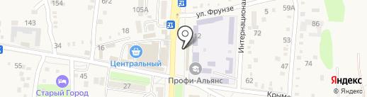 Магазин сантехники на карте Абинска