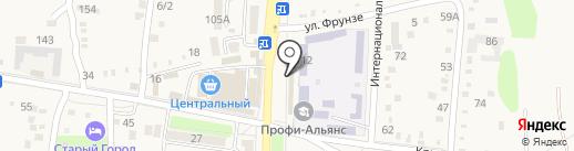 Магазин автозапчастей для отечественных автомобилей на карте Абинска