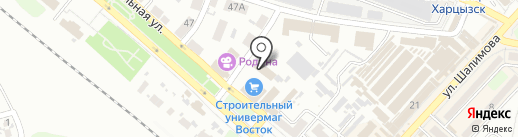 Харцызский городской суд Донецкой области на карте Харцызска