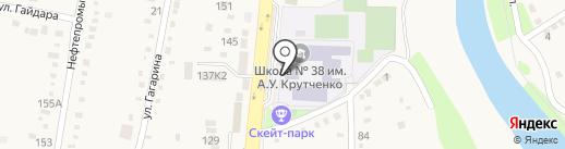 Средняя общеобразовательная школа №38 на карте Абинска