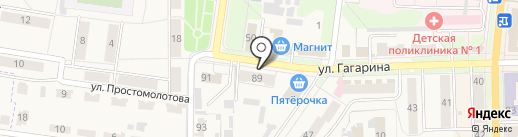 Лазурный берег на карте Узловой
