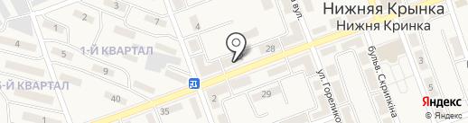 Иручи, ателье по пошиву и ремонту одежды на карте Нижней Крынки