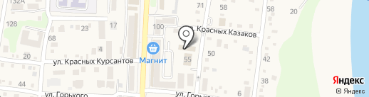 Красный Кенгуру на карте Абинска
