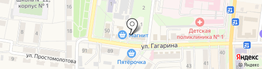 Магазин окон и дверей на карте Узловой