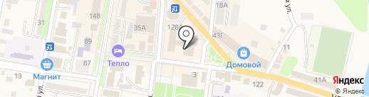 Абинский на карте Абинска