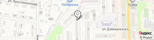 Тройка на карте Узловой