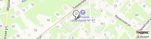Детский санаторий №47 на карте Кратово