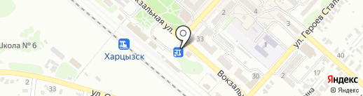 Старый Баринъ на карте Харцызска