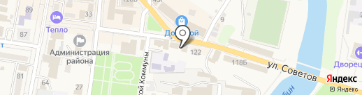 Канцелярский мир на карте Абинска