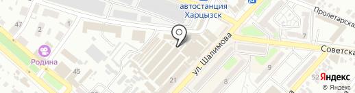 Центральный рынок на карте Харцызска