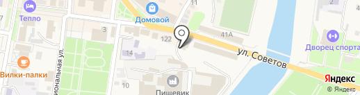 Гараж на карте Абинска