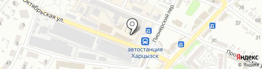 Цацки на карте Харцызска