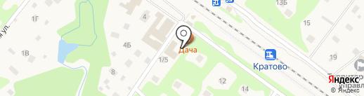 Дача в Кратово на карте Кратово