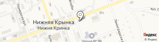 Олімп, продуктовый магазин на карте Нижней Крынки