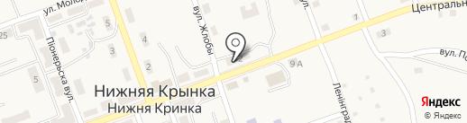 Участковый пункт милиции №35 на карте Нижней Крынки
