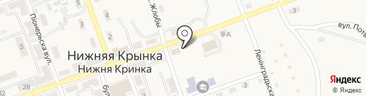 Колос на карте Нижней Крынки