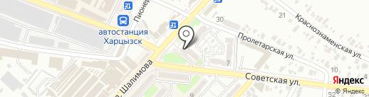 Лидер, продовольственный магазин на карте Харцызска