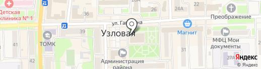 Молодежный любительский театр, МБУК на карте Узловой