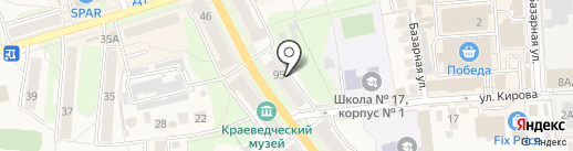 Бамбини на карте Узловой