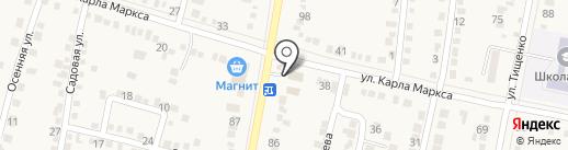 Шивелуч на карте Абинска