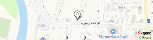 Веселый краб на карте Абинска