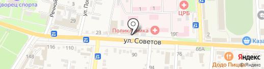 Веломоторс-Юг на карте Абинска