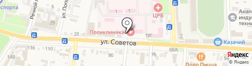 Банкомат, Крайинвестбанк, ПАО на карте Абинска