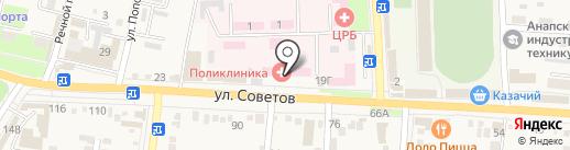 Поликлиника на карте Абинска