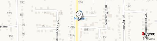 Почтовое отделение №322 на карте Абинска