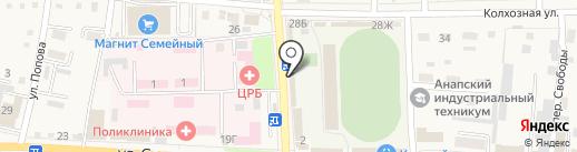 Анкор на карте Абинска