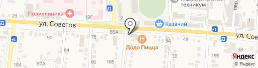 Мир наклеек на карте Абинска