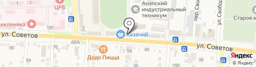 Клевый на карте Абинска