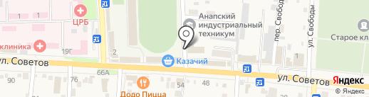 Отделение скорой медицинской помощи на карте Абинска