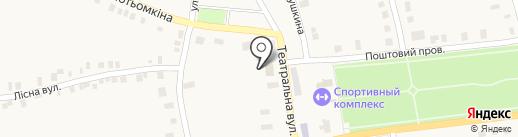 Росинка на карте Нижней Крынки