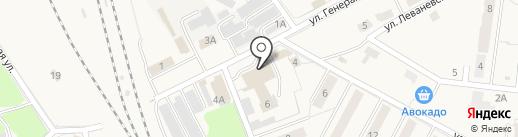 Магазин одежды и хозяйственных товаров на карте Узловой