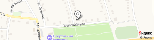 Отделение связи №9, п.г.т. Нижняя Крынка на карте Нижней Крынки