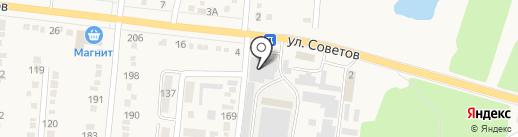 Новоком на карте Абинска