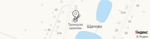 Церковь Троицы Живоначальной на карте Щапово