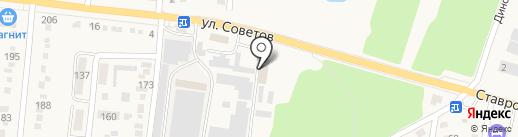 ВОСХОД на карте Абинска