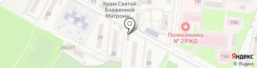 Перевозки железнодорожным транспортом на карте Узловой