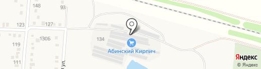 Абинский кирпич на карте Абинска
