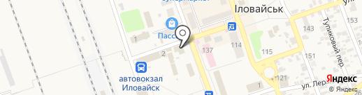 Рыболов на карте Иловайска
