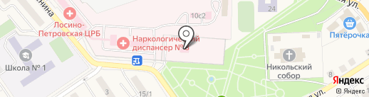 ДеДоКуКа на карте Лосино-Петровского