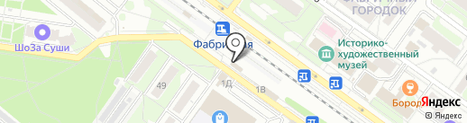 Фабричная на карте Раменского