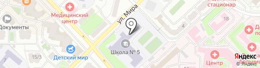 Средняя общеобразовательная школа №5 на карте Раменского