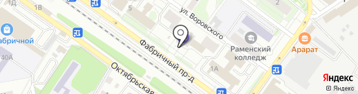 БАНК УРАЛСИБ на карте Раменского